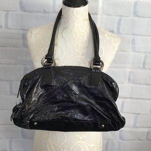 Hobo Black Patent Leather Handbag
